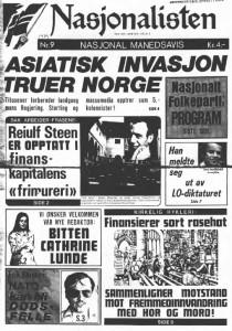 """Forside fra """"Nasjonalisten"""", Nr. 9-1979."""
