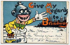 """""""Negeren"""" slik han ble fremstilt for ikke så lenge siden. Her på et postkort fra 105."""