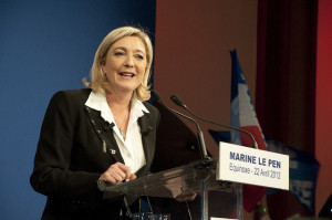 Marine Le Pen var høyreekstremistenes presidentkandidat ved valget i 2012. FOTO: Rémi Noyon