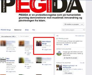 Bergh ble medlem av PEGIDas gruppe på tirsdag.