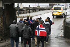 Pegida samlet 20 personer til gårsdagens demonstrasjon på Hamar.