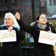 Det var labert oppmøte da facebookgruppen Steng grensen i dag arrangerte demonstrasjon for å stenge grensen.